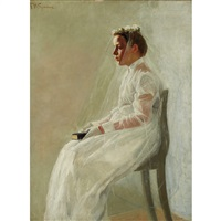 portrait of a bride by freeman willis simmons