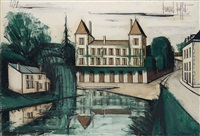 le marais poitevin, le château d'arçais (deux-sèvres) by bernard buffet