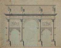 projet pour l'arc de triomphe du carrousel by percier et fontaine
