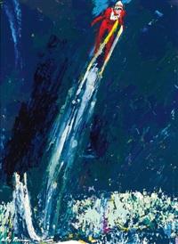 olympic ski jump by leroy neiman