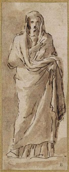 un prêtre, d'après l'antique by nicolas poussin