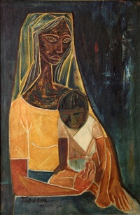 mother and child by romeo v. tabuena