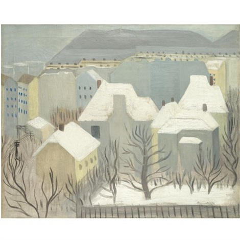 winter landscape by viktor rafael gyözö