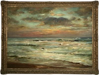 sunset seascape by frank knox morton rehn