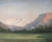 paysage alpestre by léon-auguste mellé