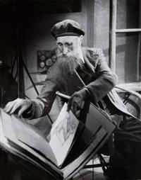 le sculpteur et peintre aristide maillol (1861-1944) dans sa maison-atelier, banyuls-sur-mer (8 works) by g. karquel