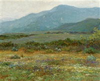 foothill landscape with wildflowers by john frost