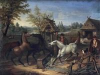 streit auf der pferdekoppel by august von rentzell