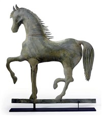 prancing horse weathervane by a.l. jewell