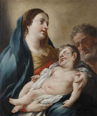 the holy family by domenico antonio vaccaro