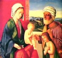 la madonna col bambino, s.giuseppe e s.giovannino by vincenzo catena