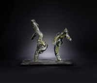 dancing majorettes by ivor abrahams