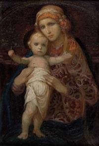 heilige maria mit kind by emanuel raffeiner