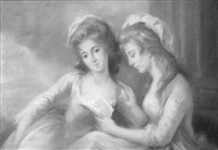portrait of the artist's daughters, mary and elizabeth by lady diana beauclerk