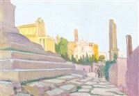 vue du forum romain depuis la curie by maurice denis