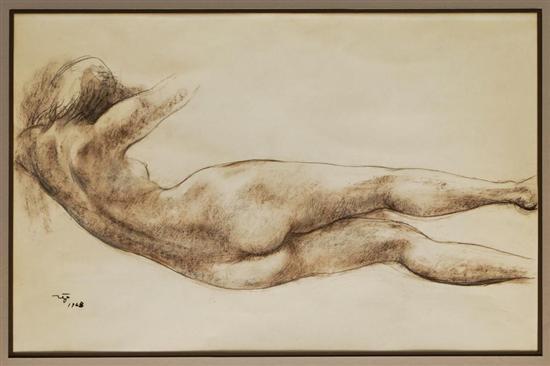 boceto mujer recostada by francisco zúñiga