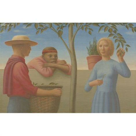 garden wall by george tooker