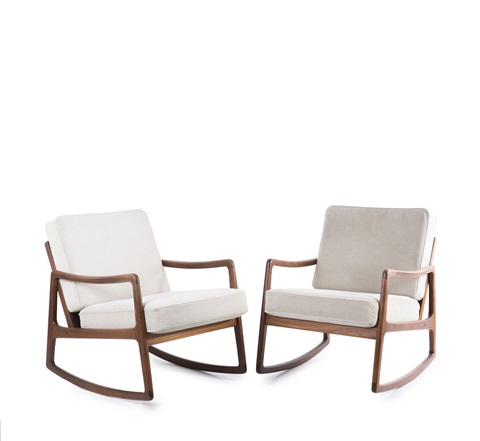 Two Fd110 Rocking Chairs By Ole Wanscher