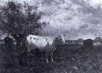 cattle in a meadow by emile justin merlot