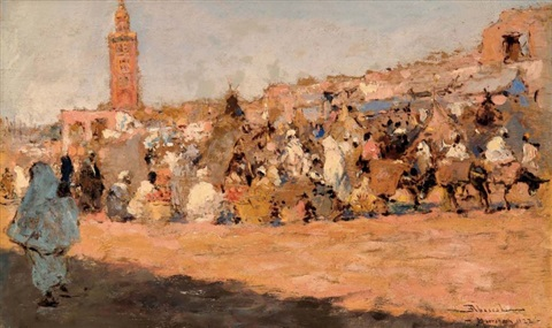 marché à marrakech study verso by felipe barantes abascal