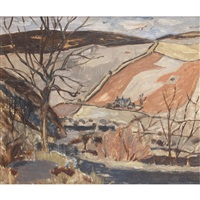 border landscape, winter by william george gillies