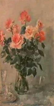 le vase de roses by taissia afonina