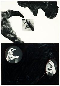 kiss, hair, hands (from hegel's cellar portfolio) by john baldessari