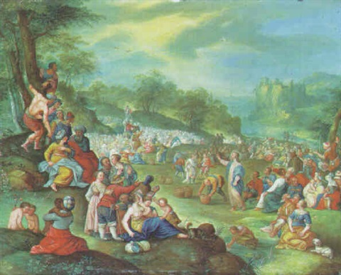 the feeding of the five thousand by hieronymus francken iii