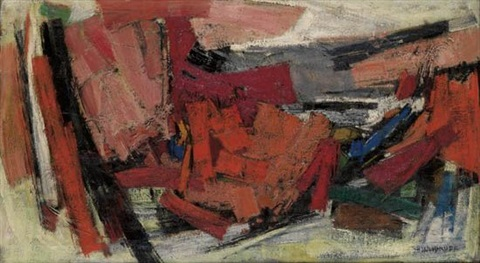 red landscape the lonely one by hale aspacio woodruff