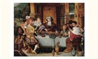 scène de banquet by kaspar (jasper) van den hoecke