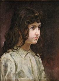 portrait de fillette by jean paul laurens