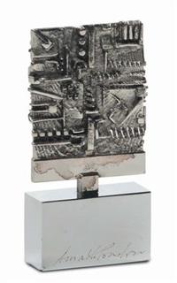 medaglia per iv triennale medaglie d'arte udine by arnaldo pomodoro