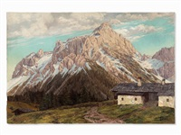 tyrolean mountains by josef obermoser