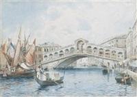 venezia, a rialto by adelchi de grossi