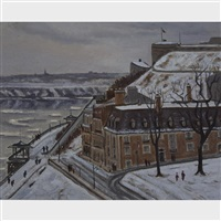 dufferin terrace, quebec city, winter by trudi pilot