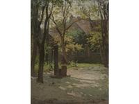 sunlit courtyard by paul cornoyer