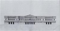 architectural design of the facade of a palace by giacomo quarenghi