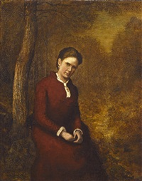 portrait of cora bailey (mrs. ralph blakelock) by ralph albert blakelock