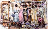 fitting a new dress by adriaan hendrik boshoff