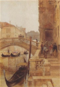 the step of san marco, venice by samuel john hodson