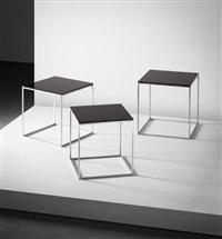 set of three nesting tables, model no. pk 71 by poul kjaerholm