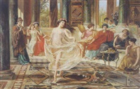 dance in the roman villa by emmanuel oberhauser