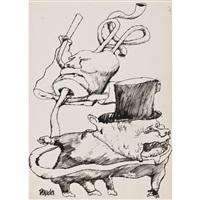 dessin satyrique sur l'engagement de, l'armée américaine au vietnam by posada