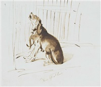 lady fitzharris dog venus, left at home by sir edwin henry landseer