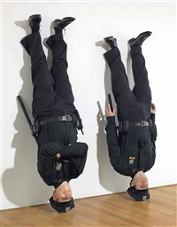 frank and jamie by maurizio cattelan