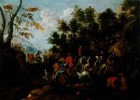 brigands attaquant une troupe militaire by john faber the elder