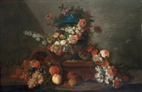 nature morte au vase et au bouquet fleuri by french school (18)