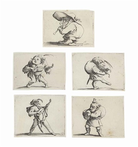 varie figure gobbi set of 20 by jacques callot