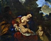 le repos pendant la fuite en egypte by françois (le moine) le moyne