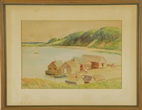 oyster shacks on oyster river by harold c. dunbar